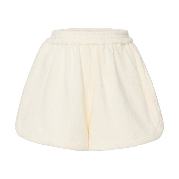 Terry cruise cotton mini shorts in yellow