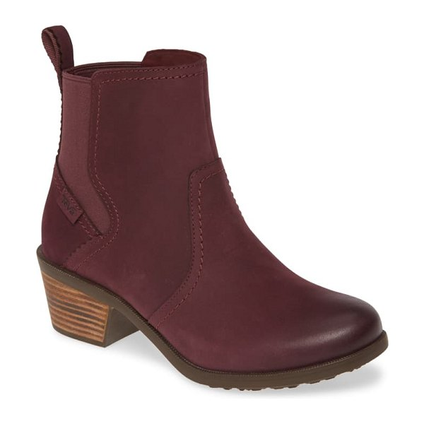 Teva anaya waterproof chelsea boot in vineyard wine leather