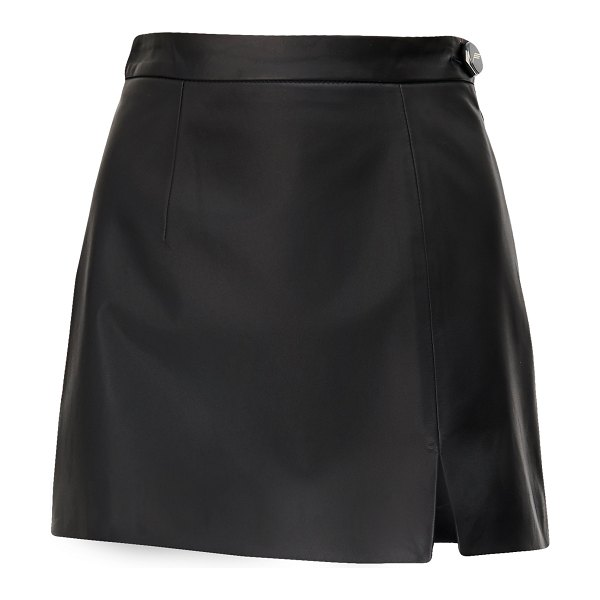 The Attico soft leather mini skirt in black