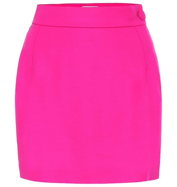 The Attico stretch-wool miniskirt in pink