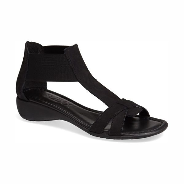 THE FLEXX 'band together' sandal in black nubuck