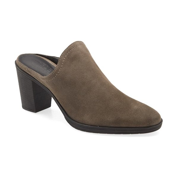 THE FLEXX rock me mule in taupe suede