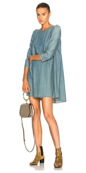 The Great Darling Dress in blue - 100% cotton.  Made in China.  Machine wash.  Unlined. ...