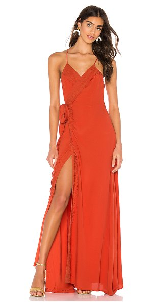 The Jetset Diaries tell me baby maxi dress in dirty apricot