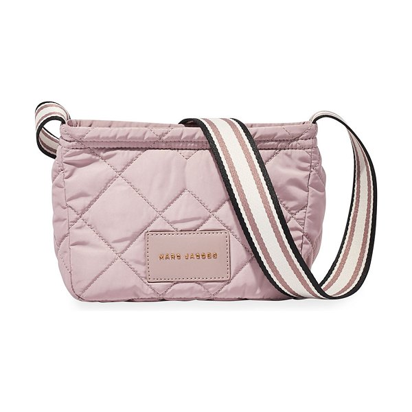 The Marc Jacobs Quilted Fabric Messenger Crossbody Bag in bark