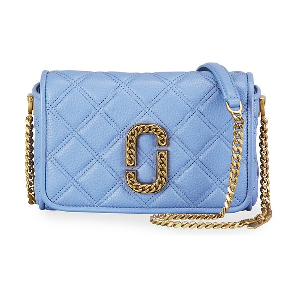 The Marc Jacobs Quilted Medallion Crossbody Bag in bright blue