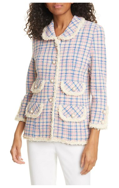The Marc Jacobs the found suit tweed jacket in ivory
