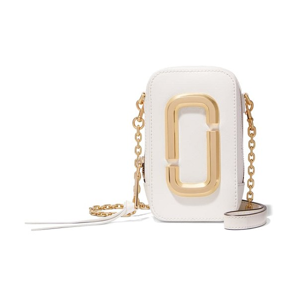 The Marc Jacobs the hot shot saffiano leather shoulder bag in brilliant white