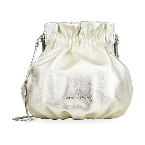 The Marc Jacobs The Soiree Metallic Leather Bucket Bag in silver