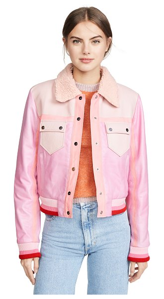 The Mighty Company paisley jacket in tie-dye pink