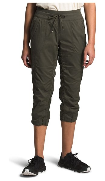 The North Face aphrodite 2.0 capri pants in new taupe green