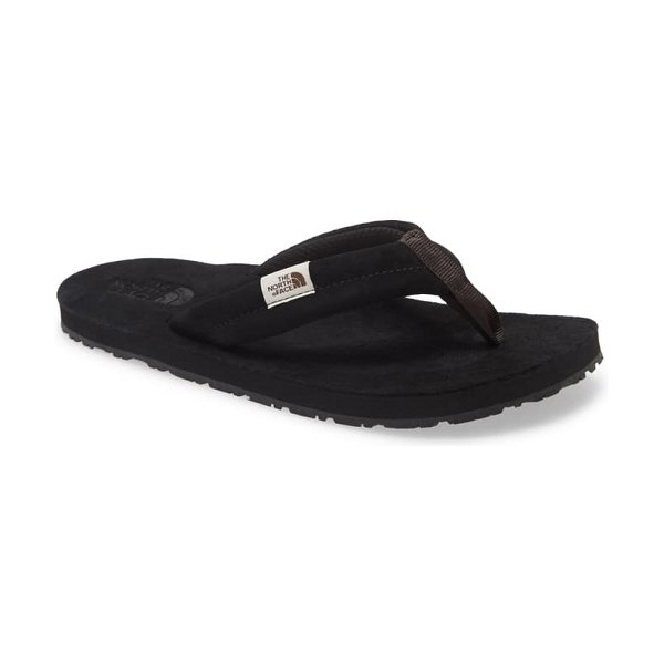 The North Face base camp flip flop in black/ black