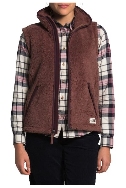 The North Face campshire 2.0 vest in marronpr/rootbn