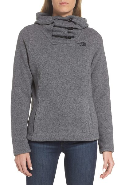 The North Face crescent hoodie in grey - This ageless sweater-knit pullover with a fleecy...