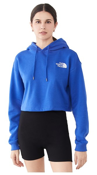 The North Face crop po hoodie in tnf blue