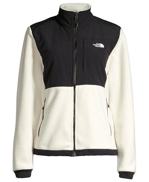 The North Face denali 2 relax-fit jacket in black,vintage white