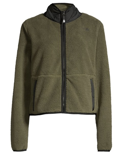 The North Face dunraven relax-fit crop jacket in new taupe green