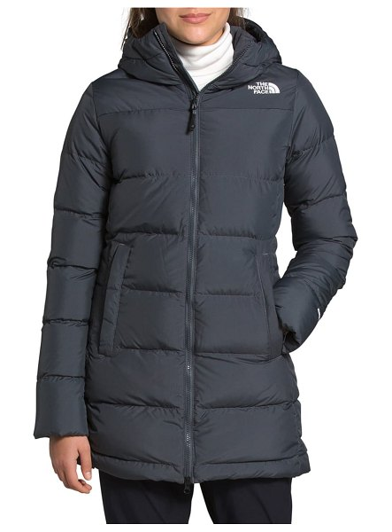 The North Face gotham 550 fill power down hooded parka in vanadis grey