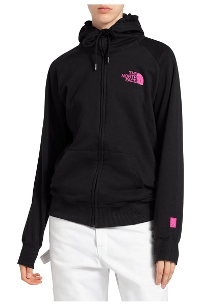 The North Face half dome zip hoodie in tnf black