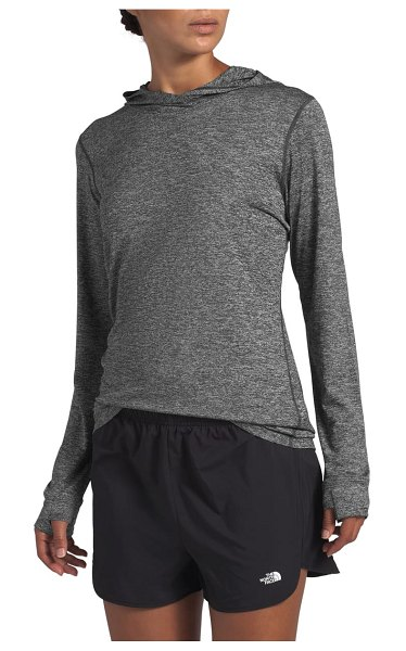 The North Face hyperlayer hooded pullover in dark grey heather