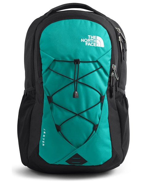 The North Face 'jester' backpack in lagoon/ asphalt grey