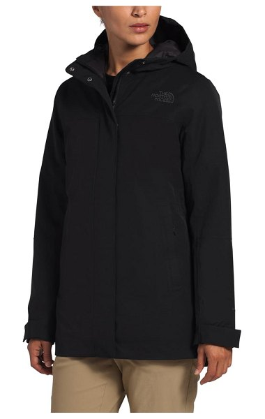 The North Face menlo insulated parka in black