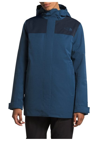 The North Face menlo insulated parka in shady blue/ urban navy