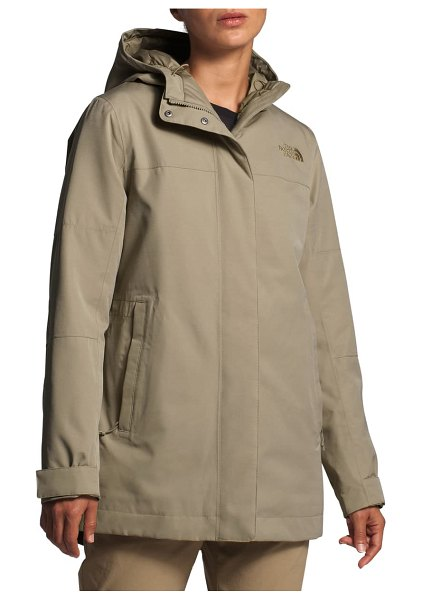 The North Face menlo insulated parka in twill beige