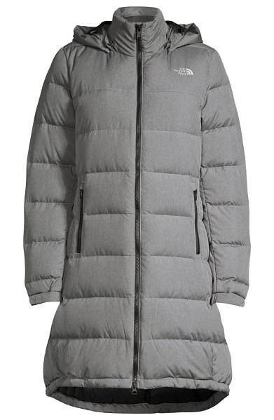 The North Face metropolis iii standard-fit down puffer parka in medium heather