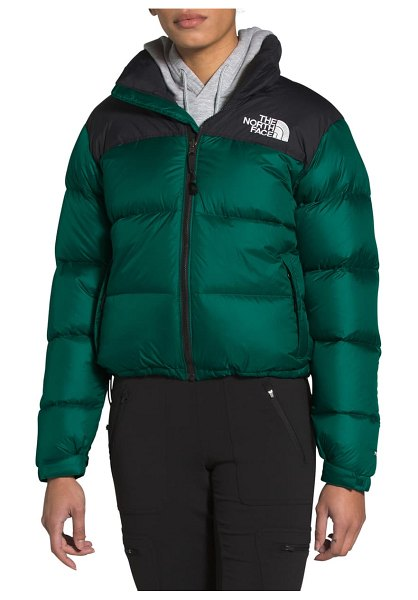 The North Face nuptse 1996 packable shiny quilted down jacket in evergreen