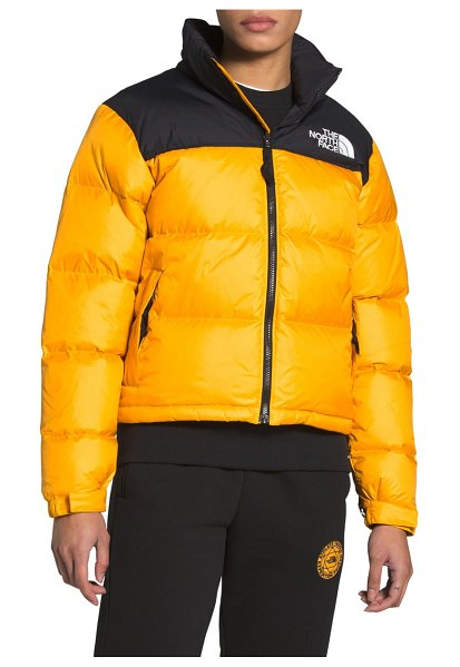 The North Face nuptse 1996 packable shiny quilted down jacket in summit gold
