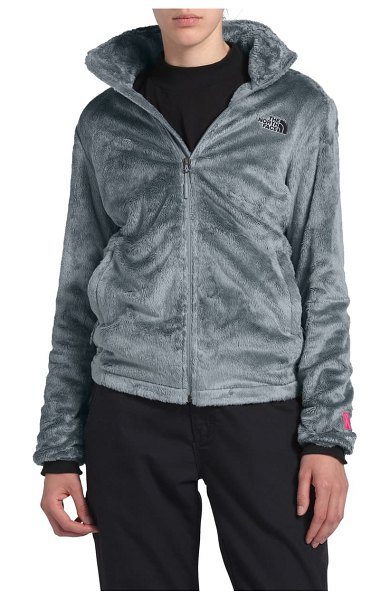 The North Face osito jacket in mid grey