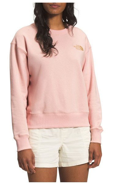 The North Face parks crewneck sweatshirt in evening sand pink