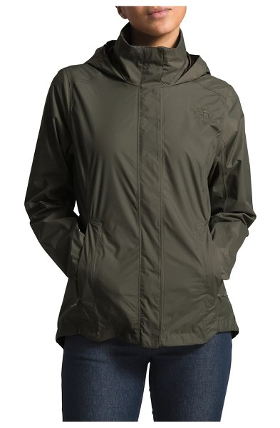 The North Face resolve ii hooded waterproof/windproof parka in burnt olive