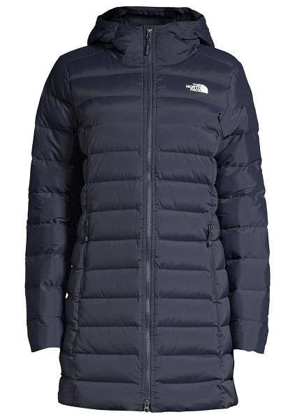 The North Face slim-fit stretch nylon-blend down puffer parka in urban navy