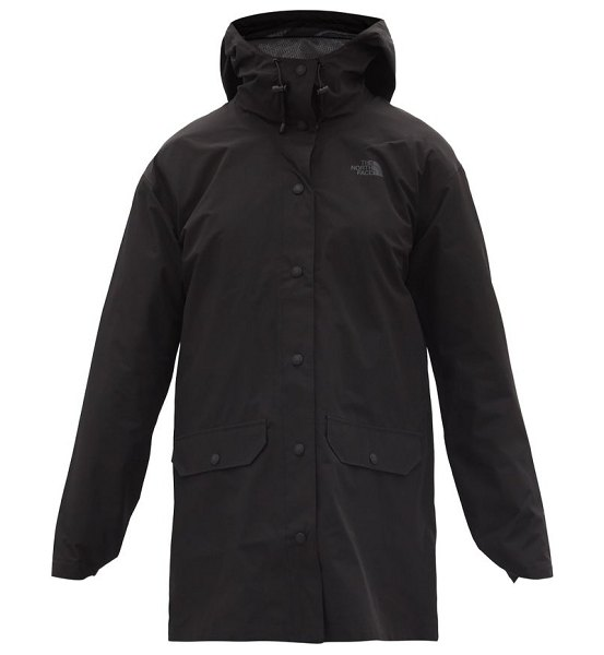 The North Face woodmont recycled-fibre shell rain jacket in black