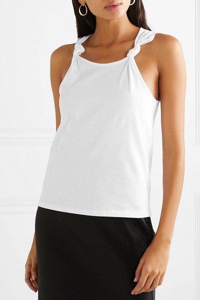 The Range knotted cotton-jersey tank in white - Each of The Range's pieces is made to seamlessly fit...