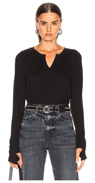 The Range stark waffle sweater in jet black