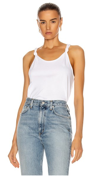 The Range substance jersey tank in white
