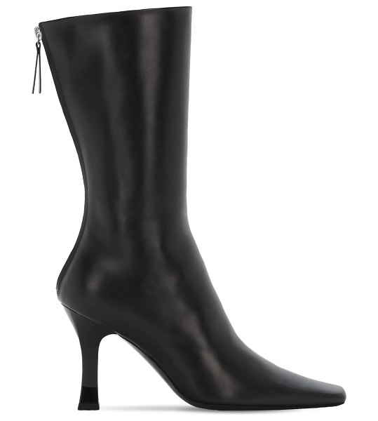 THE ROW 90mm office leather boots in black