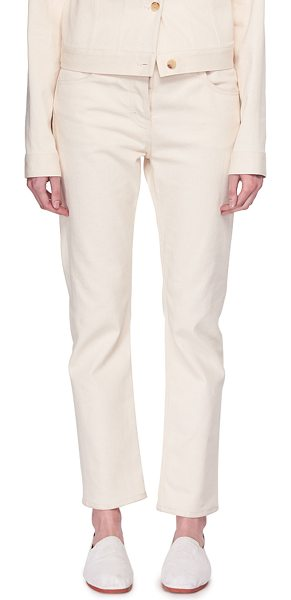 """THE ROW Ashland Cropped Straight-Leg Jeans in neutral - The Row """"Ashland"""" denim jeans. Approx. measurements: 26""""..."""