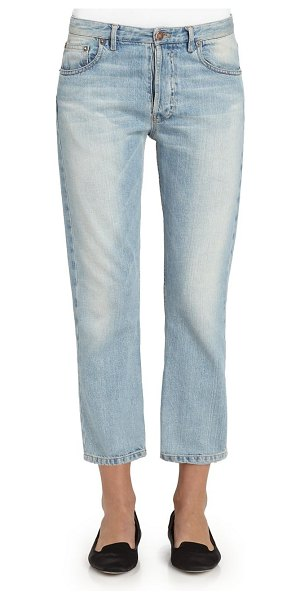 THE ROW essentials ashland cropped straight-leg jeans in blue