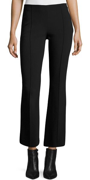 THE ROW Beca Cropped Boot-Cut Pants in black