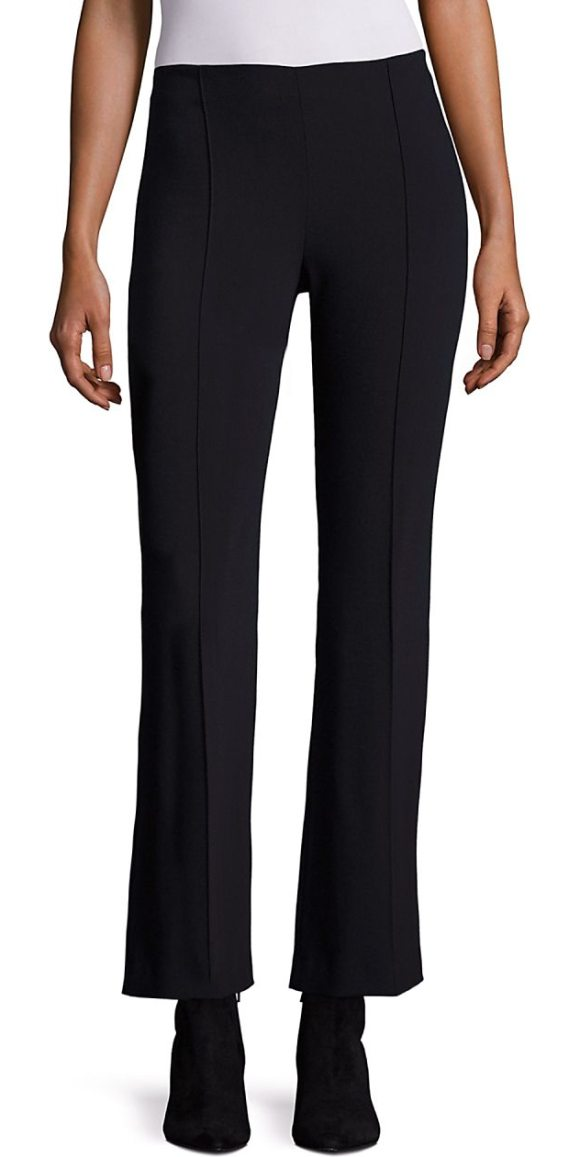 THE ROW beca scuba cropped flare pants in black