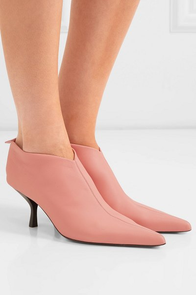 THE ROW bourgeoise leather ankle boots in pink - Inspired by modern sculptors and painters, Mary-Kate and...