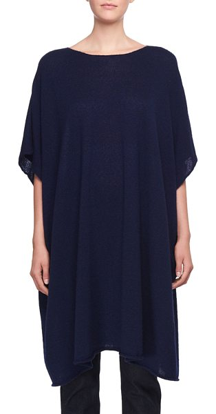 """THE ROW Cafty Cashmere-Silk Poncho in blue - The Row """"Cafty"""" poncho in cashmere-silk. Crew neckline...."""