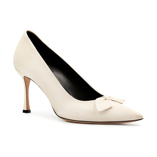 THE ROW Champagne Bow Pumps in rose beige