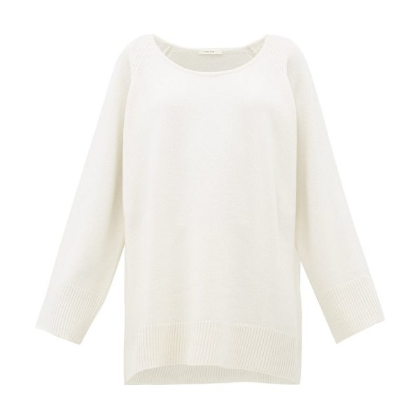 THE ROW damian wool-blend sweater in white
