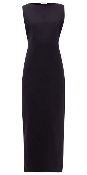 THE ROW erin scuba midi dress in black