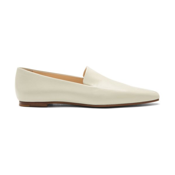 THE ROW grey minimal loafers in prg pearl g
